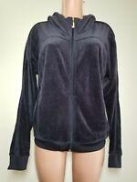 Women's Juicy Couture Soft Velour Hoodie Navy Blue XL Vtg