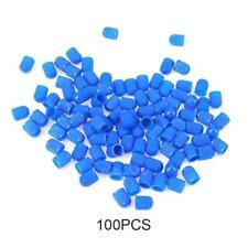 100pcs Plastic Car Truck Bike Tire Tyre Wheel Valve Stems Caps Dust Cover Blue