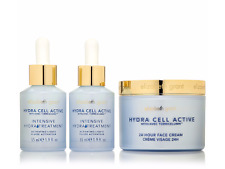 ELIZABETH GRANT Hydra Cell Active 24hr Creme & Activating Liquid + FREE EYE PADS