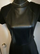RED HERRING Black Skater Jersey Dress Size 10 Occasion/Party