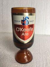 Vintage O'Keefe Ale Stubby Beer Bottle Wine Glass Goblet
