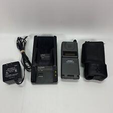 Vintage Motorola Digital Personal Communicator Flip Cell Phone w/ Case