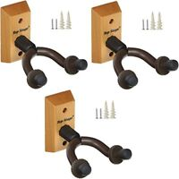 3-PACK Top Stage® Guitar Hanger Holder Stand Wall Mount Keep, JX15-NAT-Q3