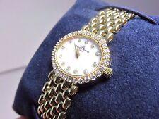 LADIES BAUME & MERCIER 14K YELLOW GOLD WATCH DIAMOND BEZEL BOX BOOKLETS WARRANTY