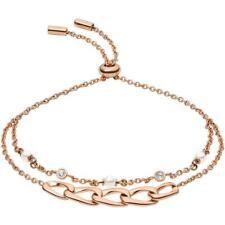 Pulsera de Mujer FOSSIL VINTAGE LINKS JF03349791 Acero Gold Rose Swarovski