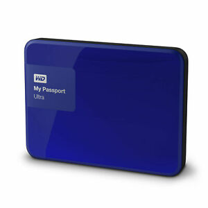 WD My Passport Ultra 3TB Blue Portable Hard Drive NEW SEALED FAST SHIPPING
