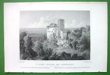 GERMANY Castle St. Anna near Rorschach on Lake Constance - 1853 Antique Print