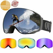 Winter Sports Snow Goggles Windproof Ski Snowboard Snowmobile Skate Adults USA