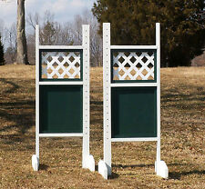 Horse Jumps Lattice Top Solid Bottom Standards Pair/5ft - Color Choice #209