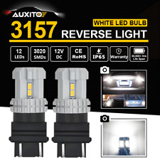Super White 2X 3157 12-SMD LED Backup Reverse Lights RDL T25 3156 3157LL 4114 AU