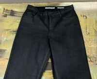 "Jones New York Size 10 Lexington Straight Jeans Stretch Navy Sparkle 32"" Inseam"