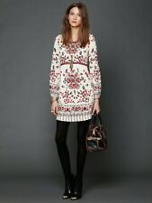 NWOT Free People Russian Doll Floral Print Sequin Embroidered Dress 10 Rare $228