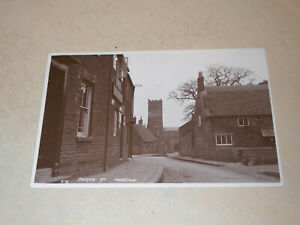 EARLY 1915 REAL PHOTO POSTCARD - CHURCH STREET, MOULTON, NORTHAMPTONSHIRE