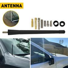 Universal Car Auto Fm Am Radio Antenna Aerial Rubber Aluminum Alloy 7 Black