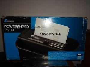 Fellowes POWERSHRED PS 30 Office/Paper/Document Shredder New