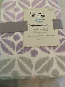 Cloud Island Pretty In Purple Fitted Crib Sheet New