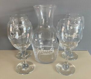Stowells Taste The World 1 Litre Glass Caraffe / Decanter + 4 X 175ml Glasses