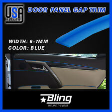 Door Panel Gap Molding Trim Blue Moulding Strip Garnish For Car Accessory 28Feet