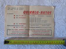 rare publicité QUIRALU AUTO 13,5 cm  x 21 cm     solido dinky norev cij jrd