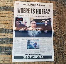 The Irishman Daily Collectible Newspaper Jimmy Hoffa Al Pacino Robert De Niro