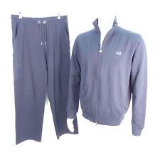 EMPORIO ARMANI EA7 Herren Jogging Anzug Loungewear Blau Gr. L/XL Baumwolle Cott