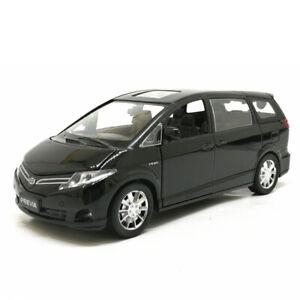 1/32 Toyota Previa MPV Model Car Metal Diecast Toy Vehicle Kid Sound Light Black