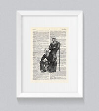 Tom Of Finland Style Sailor Men Fetish Vintage Dictionary Book Print Wall Art