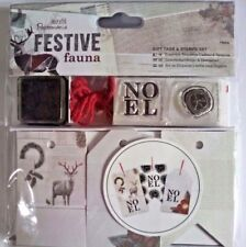DOCRAFTS Papermania Etiqueta de Regalo de 16 sello conjunto festiva Tarjeta Haciendo Álbum de recortes Fauna