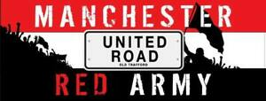 Manchester United Red Army United Road MUFC Car Sticker 20cm x 9cm