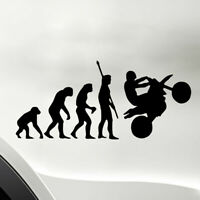 1PC Human Evolution Motorcycle Car Stickers PET Reflective Decals Convenient