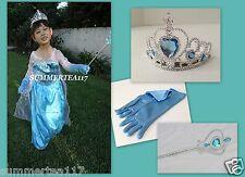 QUEEN ELSA Frozen Princess Party Dress Up Costume Girls Size 5-6 (M) Anna