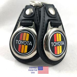 Toyota Retro Logo Key Fob Key Ring Keychain (2-Pack)