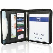 H&s A4 Zippé Conférence Dossier Porte Folio Case Business en Cuir Synthétique Sac -