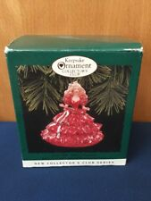 Happy Holiday Barbie Ornament 1996 QXC4181 1st in Collector's Club Series MINT