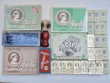 APOLLO SOLINGEN Vintage Metall Rasierer +700 Blades DE Safety Travel Razor 1950s