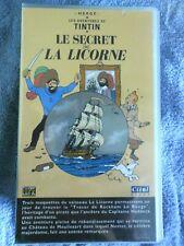 Vintage Cassette VHS Hergé-TINTIN Le secret de la Licorne Le trésor Rackham NEUF
