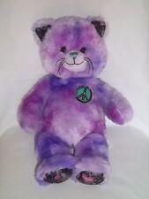 BUILD A BEAR Plush BEST FRIENDS FOREVER CAT Kitty PEACE LOVE Stuffed Purple Toy