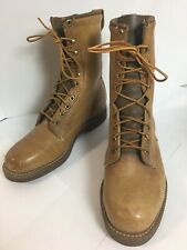 Vintage 1980s Mens Wolverine Boots Size 7 E Light Brown Tan Leather Lace Up 2435