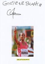Gelete Burka  Äthiopien Leichtathletik  2.WM 2015 original signiert WL 344374
