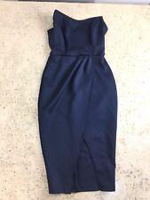 ASOS Ladies Size UK 8 Bandeau Navy Origami Pencil Dress Bodycon Strapless
