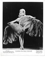 Cynthia The Body Sinclair Burlesque Fan Dancer Stripper 1950s orig by Seymour