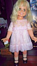 1969 IDEAL BETTY BIG GIRL DOLL, HB-32, Blonde Hair, Blue Eyes missing battery