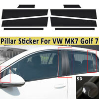 5D Carbon Fibre Effect Door Pillar Trim Sticker Kit Style A B C for VW   !!