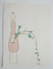 Golden Bell dans Hyotan: Japanese Woodblock Print Art IKEBANA Flower Arrangement