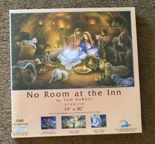 Puzzle Sunsout Tom duBois No Room at the Inn nativity Christmas 1000 pieces New