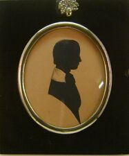 SILHOUETTE A YOUNG GENTLEMAN LOOKING RIGHT J.L.MAGINNN (ATTRIB) C1845