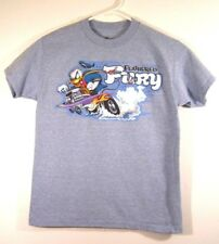 Disneyland Feathered Fury T-Shirt by Hanes Child Size M Blue