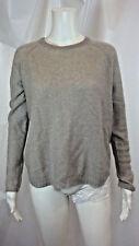 Inhabit Gray 100% Cashmere Long Sleeve Crew Neck Sweater Size P