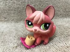 Littlest Pet Shop LPS #2114 Pink Fox Green Eyes Accessories