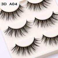 3 Pairs Natural EyeLashes Handmade Extension Long Soft False Eye Makeup Sparse